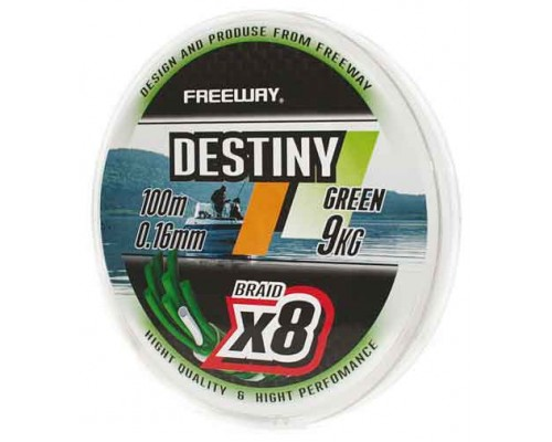 Шнур плетеный FWx8 DESTINY GREEN