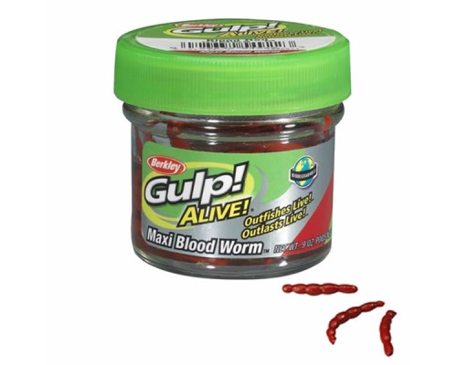 Силиконовая приманка Berkley Gulp! Alive Bloodworms
