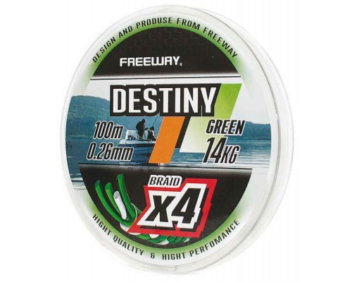 Шнур плетеный FWx4 DESTINY GREEN